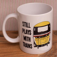 Still Plays with Trains - HST (Intercity) - Mug & T Shirt set