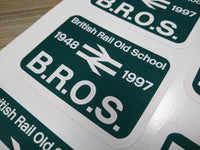 British Rail Old School (BROS) vinyl sticker