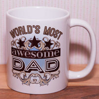 World's most Awesome Dad Mug (Also Available as Gift Set)