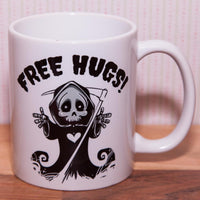 Grim Reaper Free Hugs Mug (Also Available as Gift Set)