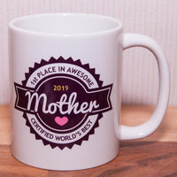 1st place Awesome Mother Mug 2019 (Also Available as Gift Set)