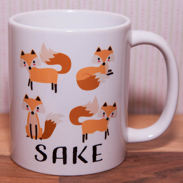Four Fox Sake Mug (Also Available as Gift Set)