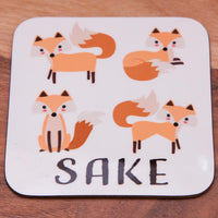 Four Fox Sake Coaster