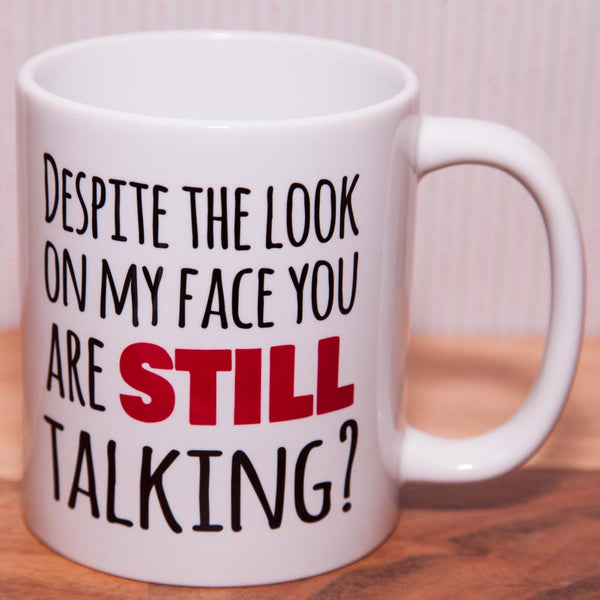 Despite the look on my face - Mug (Also Available as Gift Set)
