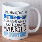 Brother in Law Humour Mug Same Sex Couple Gift (Also Available as Gift Set)