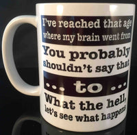 You probably shouldn't say that Mug