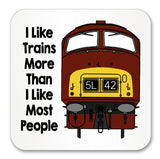 I like trains more than I like most people Mug / Coaster - Class 42