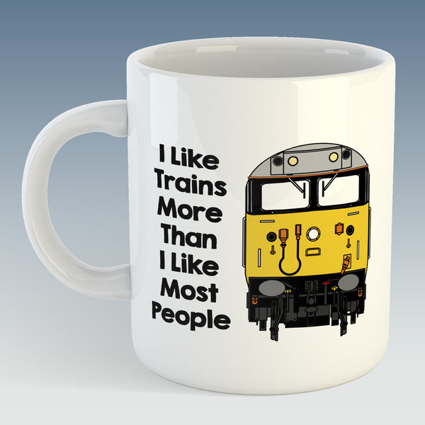 I like trains more than I like most people Mug / Coaster - Class 50