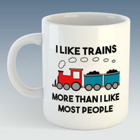 Cranks - I Like Trains More than I like most people - Mug/Coaster set (Also available individually)