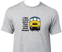 I Like Trains More Than I Like Most People - Class 45 Printed T-Shirt