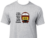 I Like Trains More Than I Like Most People - Class 52 (Maroon) Printed T-Shirt
