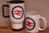 Proud to have worked for British Rail - Ceramic / Stainless Travel Mug