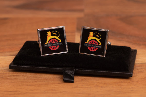 British Rail Lion & Wheel Cufflinks with gift box
