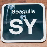 Shed Sticker Mug / Coaster - Saltley Seagulls