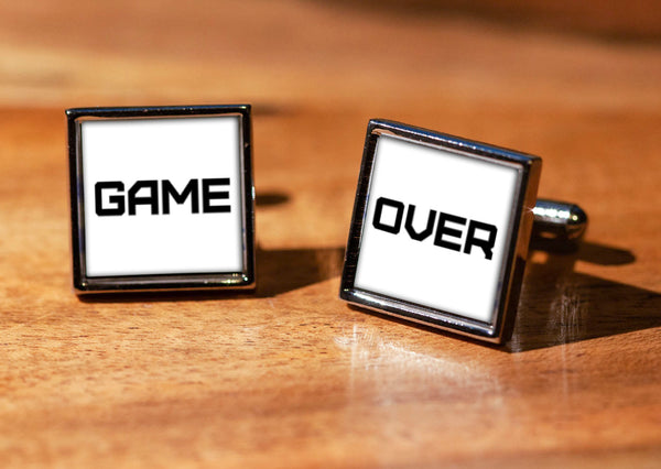 Wedding Game Over Cufflinks with gift box