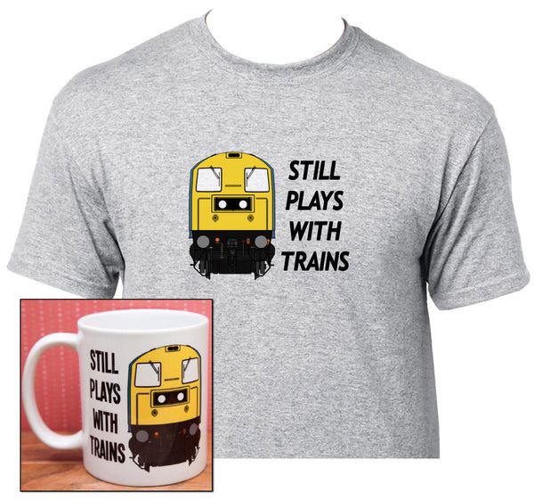 Still Plays with Trains - Class 20 - Mug & T Shirt set