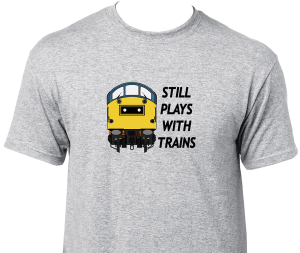 Still Plays With Trains - Class 40 Printed T-Shirt