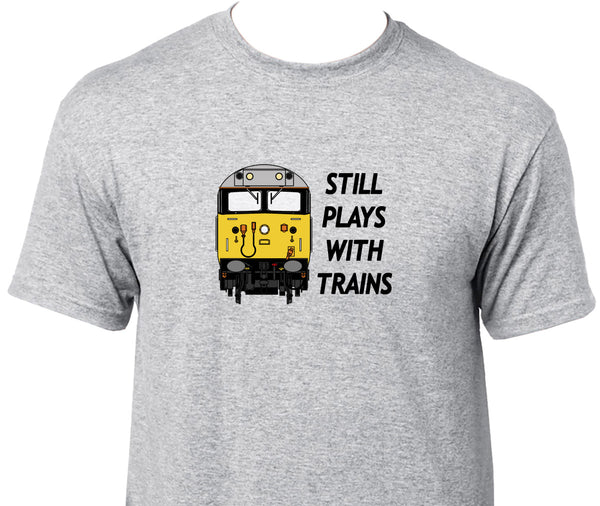 Still Plays With Trains - Class 50 Printed T-Shirt