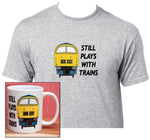 Still Plays with Trains - Class 52 (Blue) - Mug & T Shirt set