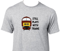 Still Plays With Trains - Class 52 (Maroon) Printed T-Shirt