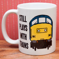 Still Plays with Trains - Class 37 - Mug & T Shirt set