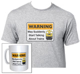 Warning May Suddenly Start Talking About Trains - Class 20 - Mug & T Shirt set