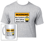 Warning May Suddenly Start Talking About Trains - Class 26 - Mug & T Shirt set