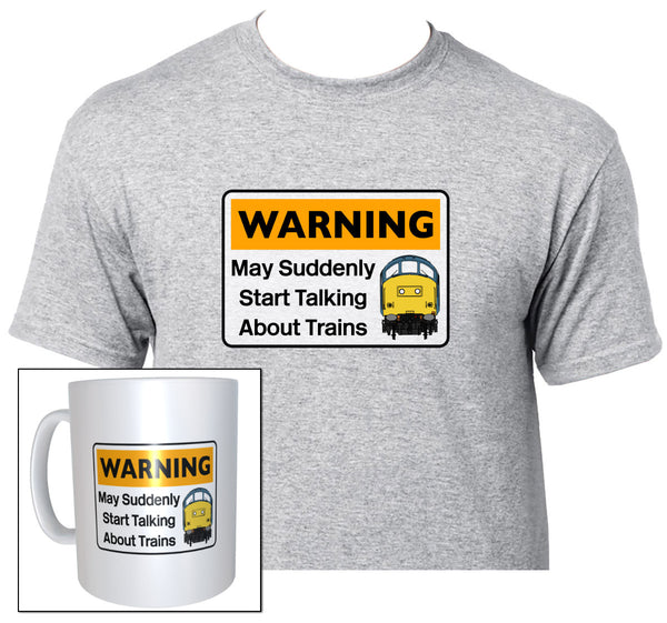 Warning May Suddenly Start Talking About Trains - Class 37 - Mug & T Shirt set