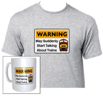 Warning May Suddenly Start Talking About Trains - Class 42 - Mug & T Shirt set