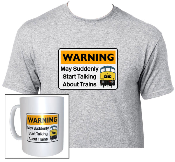 Warning May Suddenly Start Talking About Trains - Class 45 - Mug & T Shirt set