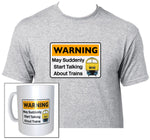 Warning May Suddenly Start Talking About Trains - Class 52 (Blue) - Mug & T Shirt set