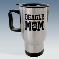 Travel Mug - Beagle Mom - Available in White or Silver