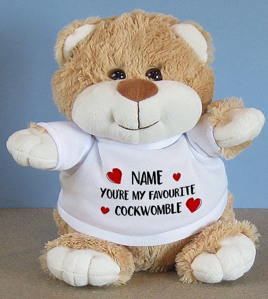 PERSONALISED Adult Rude Swear Soft Toy Animal Teddy Bear - Various Text Designs