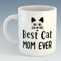 Best Cat Mom Ever Mug (Also Available with Coaster)