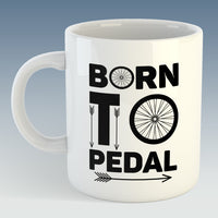 Born To Pedal Cycling Mug (Also Available with Coaster)