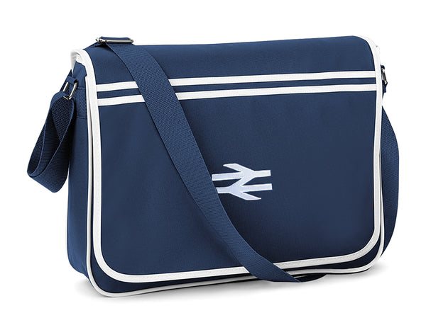 Retro Messenger Bag embroidered with BR British Rail Double Arrows
