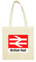 Cotton Shopping Tote Bag - British Rail Sign