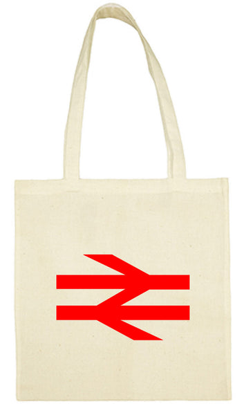 Cotton Shopping Tote Bag - British Rail Double Arrows