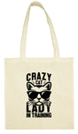Crazy Cat Lady in Training Cotton Shopping Tote Bag