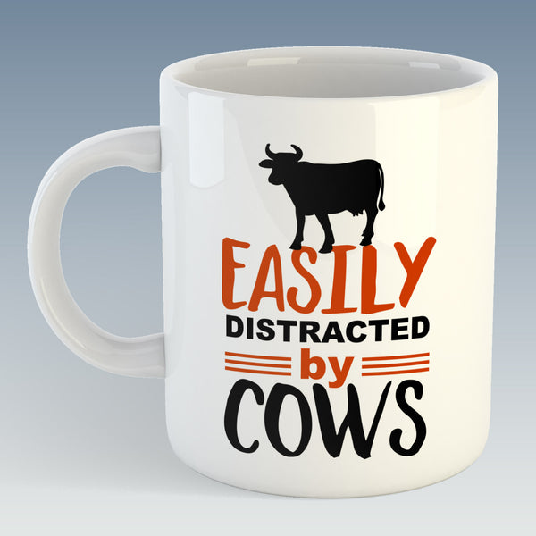 Easily Distracted By Cows Mug (Also Available with Coaster)
