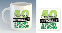 Officially A Grumpy Old Woman Mug - Personalised with NAME & AGE