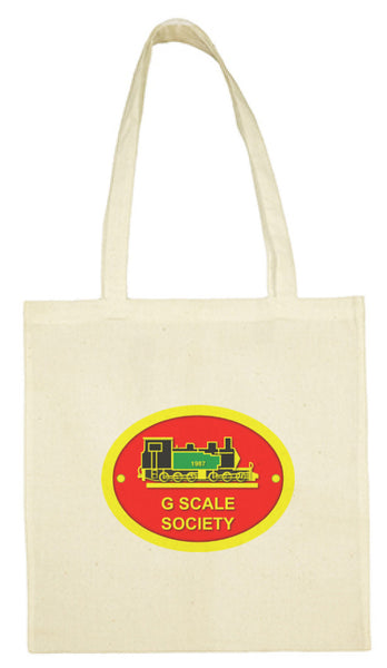 G Scale Society cotton shopping tote bag