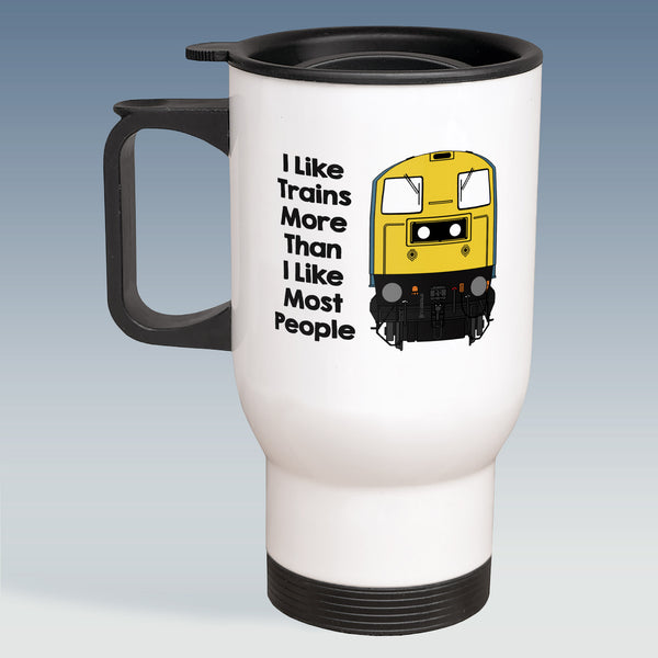 Travel Mug - I Like Trains more than Most People - Class 20