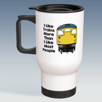 Travel Mug - I Like Trains more than Most People - Class 26