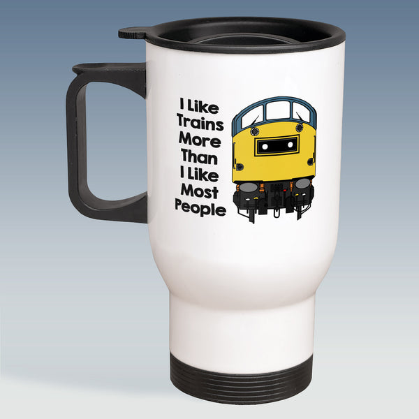 Travel Mug - I Like Trains more than Most People - Class 40