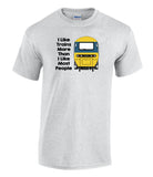 I Like Trains More Than I Like Most People - HST (BR Blue) Printed T-Shirt