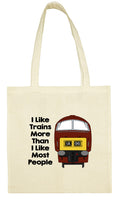 Cotton Shopping Tote Bag - I Like Trains More Than Most People Class 52