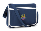 Retro Messenger Bag embroidered with BR British Rail Lion and Wheel