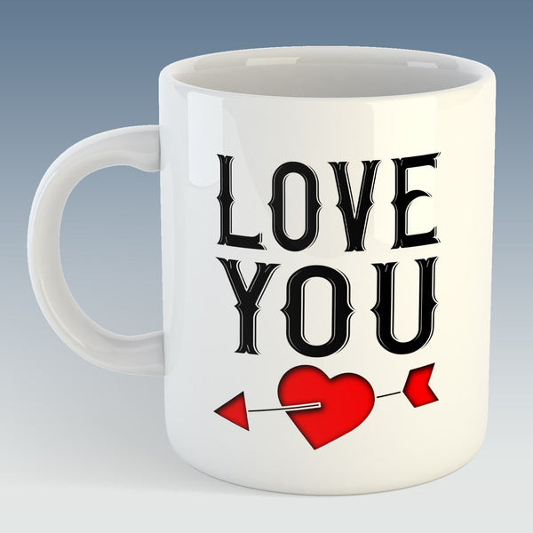 Love You Mug (Also Available with Coaster)