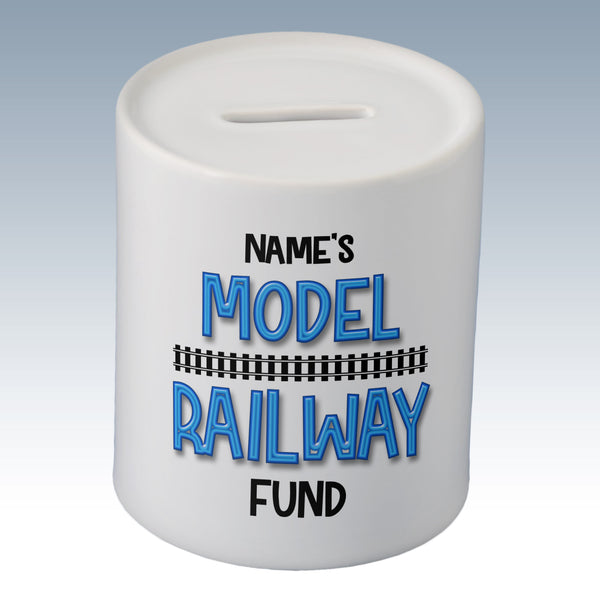Personalised Model Railway Fund Money Box